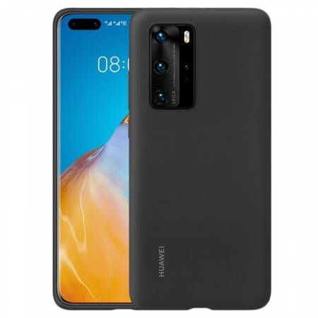 Huawei P40 Pro Silicone Case Black