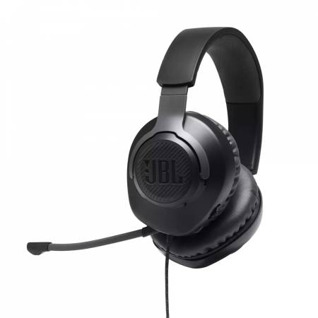 JBL QUANTUM 100 BLK Wired over-ear gaming headset with a detachable mic