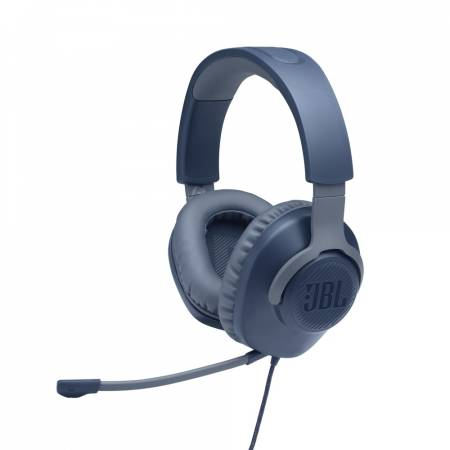 JBL QUANTUM 100 BLU Wired over-ear gaming headset with a detachable mic