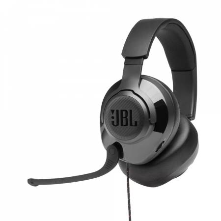 JBL QUANTUM 200 BLK Wired over-ear gaming headset with flip-up mic