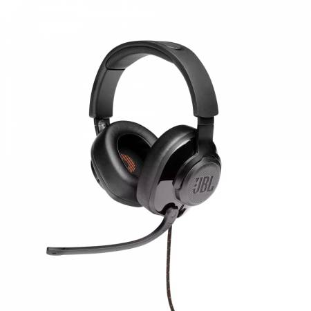 JBL QUANTUM 300 BLK Hybrid wired over-ear gaming headset with flip-up mic