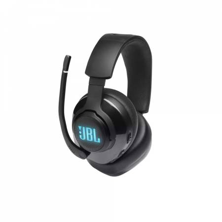 JBL QUANTUM 400 BLK USB over-ear gaming headset with game-chat dial