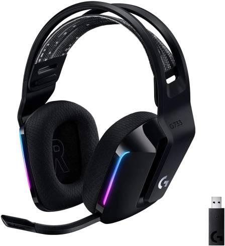 Logitech G733 LIGHTSPEED Wireless RGB Gaming Headset - BLACK - 2.4GHZ - N/A - EMEA