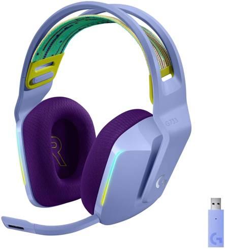 Logitech G733 LIGHTSPEED Wireless RGB Gaming Headset - LILAC - 2.4GHZ - N/A - EMEA