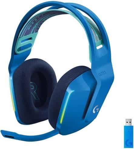 Logitech G733 LIGHTSPEED Wireless RGB Gaming Headset - BLUE - 2.4GHZ - N/A - EMEA