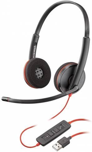Слушалки с микрофон Plantronics Blackwire C3220 USB-A
