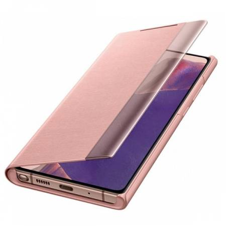 Samsung Note 20 Clear view cover Mystic Bronze