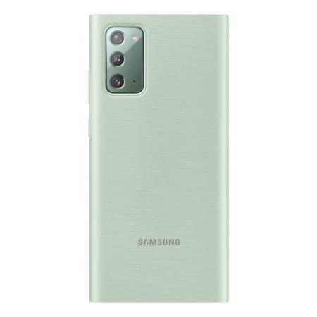 Samsung Note 20 Clear view cover Mystic Green