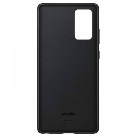 Samsung Note 20 Leather Cover Black