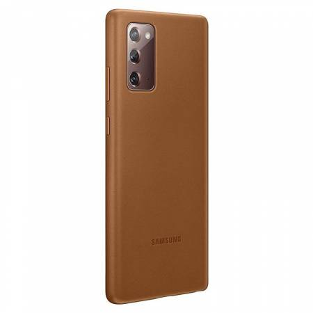 Samsung Note 20 Leather Cover Brown