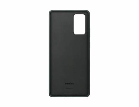 Samsung Note 20 Leather Cover Green