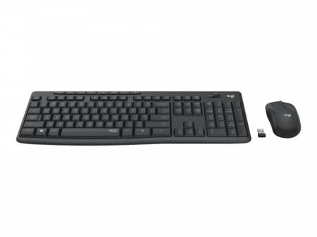 Безжичен комплект клавиатура и мишка Logitech MK295 Graphite black 920-009800
