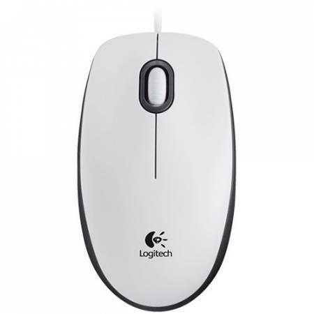 Кабелна USB мишка Logitech M100 бяла 910-005004