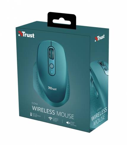 TRUST Ozaa Wireless Rechargeable Mouse Blue
