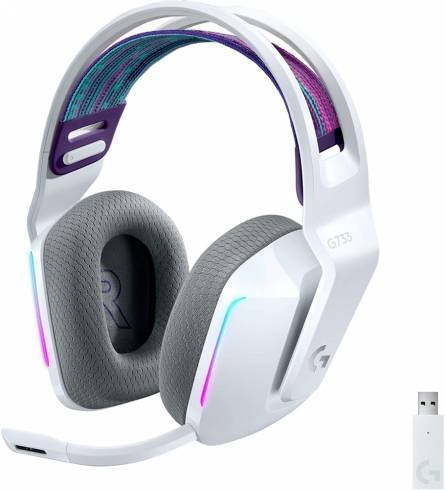 Logitech G733 LIGHTSPEED Wireless RGB Gaming Headset - WHITE - 2.4GHZ - N/A - EMEA
