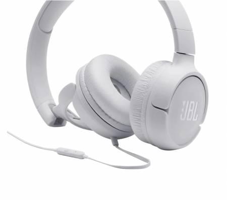 Слушалки JBL T500 WHT HEADPHONES JBLT500WHT