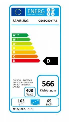 "Samsung 65"" 65Q800T QLED FLAT"