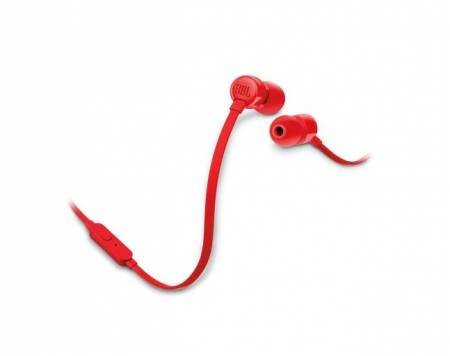 Слушалки JBL T110 RED In-ear headphones JBLT110RED