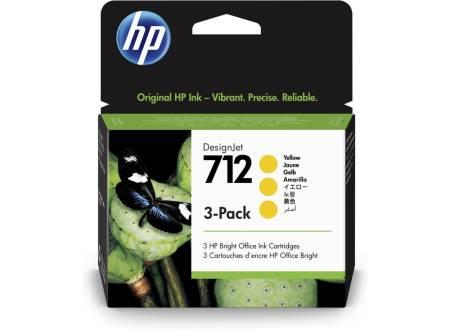 HP 712 Yellow Ink Cartridge 3-Pack