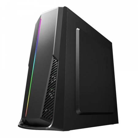 Кутия за настолен компютър Inaza Shield SHIELD01-BK с RGB панел