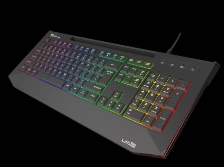 Genesis Gaming Keyboard Lith 400 RGB US Layout RGB Backlight X-Scissor Slim