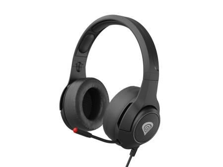 Genesis Headset Argon 600 With Microphone Adapter Black