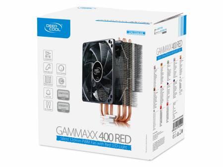 Охладител за Intel и AMD процесори Deepcool Gammaxx 400 Red