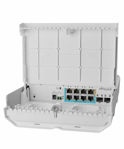 8-портов външен комутатор Mikrotik netPower Lite 7R CSS610-1Gi-7R-2S+OUT