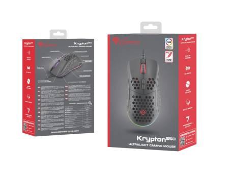 Genesis Light Weight Gaming Mouse Krypton 550 8000 DPI RGB Software Black