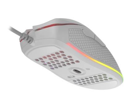 Genesis Light Weight Gaming Mouse Krypton 550 8000 DPI RGB Software White