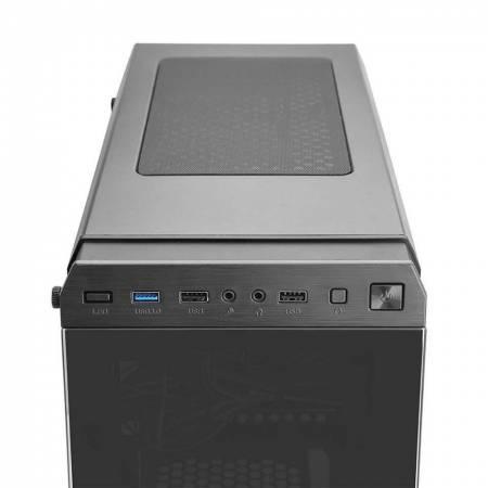 Кутия за настолен компютър Segotep Hyperion-T SG-HT със закалено стъкло ATX mid tower
