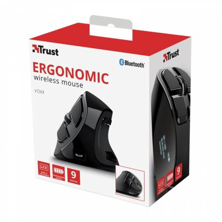 TRUST Voxx Ergonomic Wireless Rechargeable Mouse