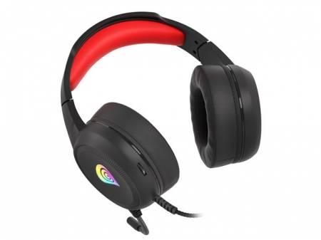 Геймърски слушалки с микрофон Genesis Headset Neon 200 RGB Black-Red NSG-1609