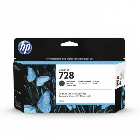 HP 728 130-ml Matte Black DesignJet Ink Cartridge