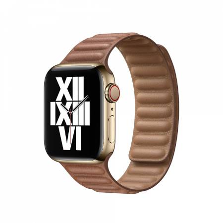 Apple Watch 40mm Band: Saddle Brown Leather Link - Small