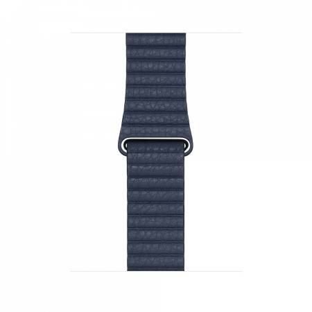 Apple Watch 44mm Band: Diver Blue Leather Loop - Medium (Seasonal Fall 2020)