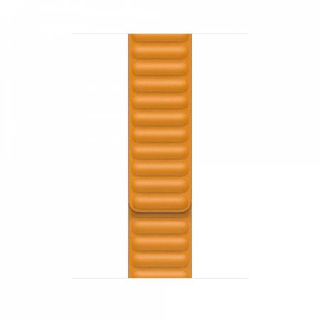 Apple Watch 44mm Band: California Poppy Leather Link - Large (Seasonal Fall 2020)