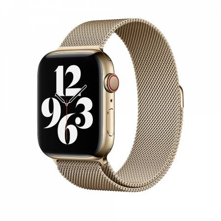 Apple Watch 44mm Band: Gold Milanese Loop