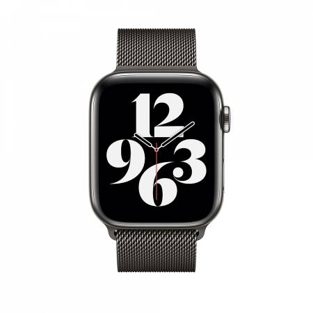 Apple Watch 44mm Band: Graphite Milanese Loop
