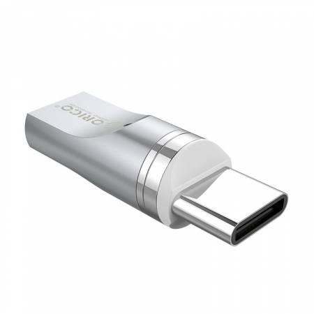 Магнитен MicroUSB към Type-C адаптер Orico MT01 сив