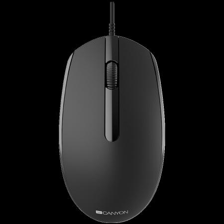 Оптична мишка Canyon black CNE-CMS10B