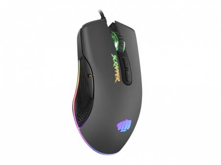 Fury Gaming Mouse Scrapper 6400DPI Optical With Software RGB Backlight