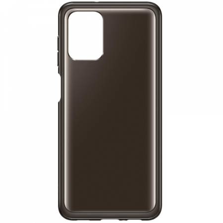 Samsung A12 Soft Clear Cover Black