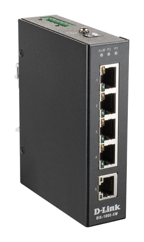 5-портов индустриален неуправляем комутатор D-Link DIS-100E-5W