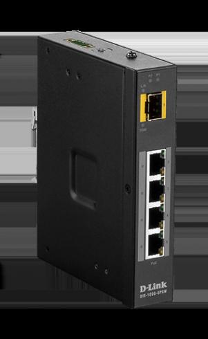 5-портов индустриален неуправляем комутатор D-Link DIS-100G-5PSW