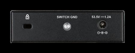 Комутатор D-Link 5-Port Desktop Gigabit PoE+ Switch DGS-1005P
