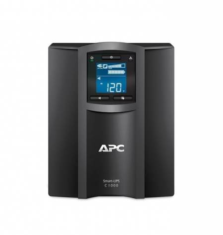 APC Smart-UPS C 1000VA LCD 230V with SmartConnect + APC Essential SurgeArrest 5 Outlet 2 USB Ports Black 230V Germany