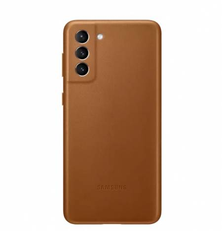 Samsung S21+ Leather Cover Brown