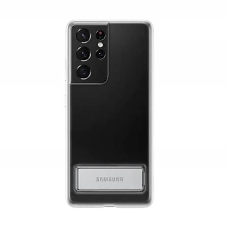 Samsung S21Ultra Clear Standing Cover Transperant