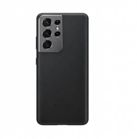 Samsung S21Ultra Leather Cover Black